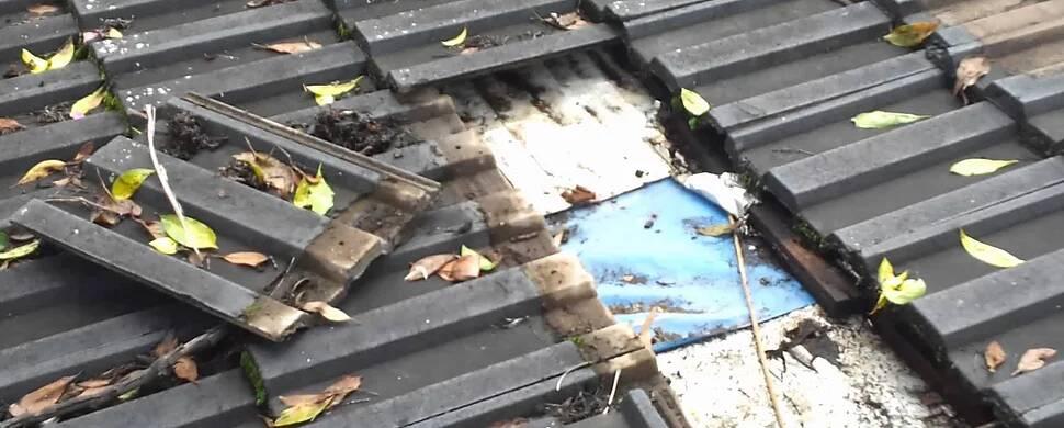 房顶损坏漏水